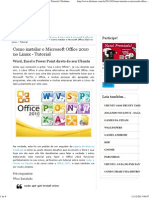 Como Instalar o Microsoft Office 2010 No Linux - Tutorial _ Diolinux