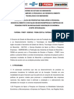 Edital Fapema Nº 047-2012 PAPPE