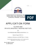 New ITI 2013-14