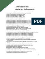 Precios de Los 201 Productos Del Acuerdo 2222
