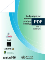 Indicators for Assessing IYCF Practices