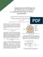 diseño e implementación del bloque de generación eléctrica de un sistema de hidrogeneración basada en vórtice gravitacional