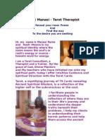Manasi - Tarot Therapist