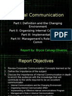 Internal Communication Report