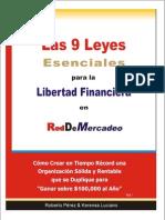 9 Leyes Para Libertad Financiera en RDM Pergamino