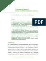 Procesos de formación ambiental programas academicos de EA