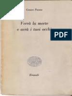 Verra La Morte E Avra I Tuoi Occhi - Cesare Pavese