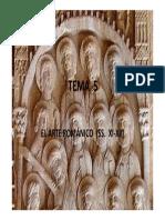 TEMA 5 - ARTE ROMÁNICO (SIGLOS XVI Y XVII)