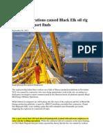 Welding Operations Caused Black Elk Oil Rig Explosion