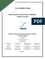 Off-Season Vegetables FarmingWalk-In Tunnel