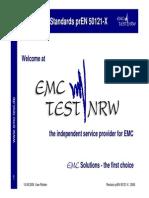 Railway EMC Standards PrEN 50121 X
