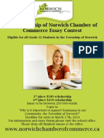 2014 The Township of Norwich Chamber of Commerce Essay Contest