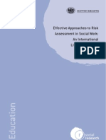 Approaches to Risk Assesment in Social Work