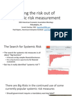 Taking the risk out of systemic risk measurement
