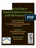 Utilizing Yoga Therapy as a Biomedical & Biobehavioral Intervention for HIV-AIDS Prevention & Treatment
