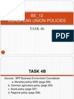 BE_12 European Union Policies