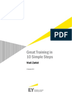 Great Training in 10 Steps Wali Zahid EY 2014
