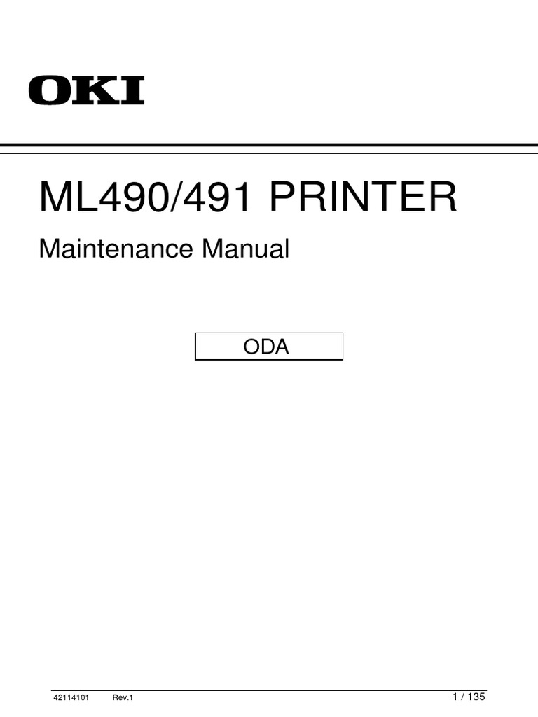 Okidata ML490 Service Manual | Usb | Electrical Connector on