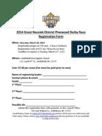 Neusiok District 2014 Pinewood Derby Registration Form