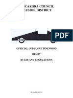 2014 Neusiok District Pinewood Derby Rules
