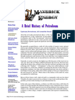 A Brief History of Petroleum