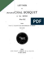 Lettre maréchal Bosquet à sa mère