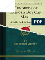 Anonymous - Hundreds of Things a Boy Can Make