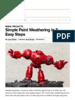 simple paint weathering in 3 easy steps   make
