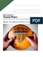 thumb piano   make
