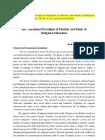 SHANKER THAPA's > Identity and Study of Religious Minorities