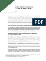 ALGUMAS REFLEXÕES SOBRE OS PROGRAMAS DE ALIMENTAÇÃO ESCOLAR NA AMÉRICA LATINA