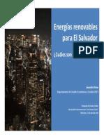 Energi Are No Vable Sel Salvador 2010