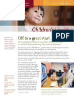 Julie Kendrick for Children's Health Newsletter