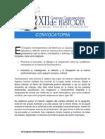 Convocatoria Xii Congreso Centroamericano de Historia