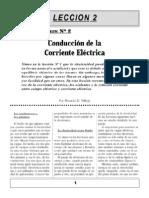 Leción 2 -  Conducción de la corriente eléctrica