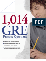 1014 GRE Practice Questions by the Princeton Review Excerpt
