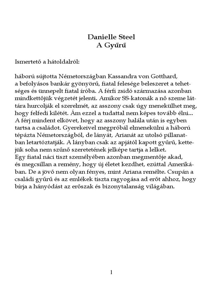 Danielle Steel a Gyuru 3cb851913e