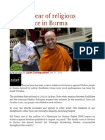 2013 a Year of Religious Intolerance in Burma