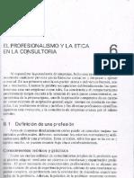 Tema 6. El Profesionalismo y La Etica en La Consultoria