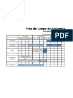 Plan de Grupo de Alabanza - Tabla