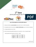 OBF2006 2Fase 3serie Prova
