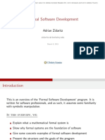 Formal Software Development Program