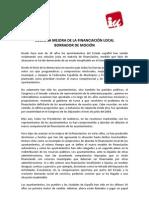 Mocion Financiacón Municipal (UV)