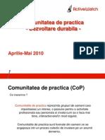ActiveWatch Buna Guvernare Comunitate de Practica