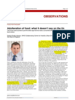 Adulteration of Food