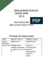 Teknik Menjawab Soalan Sc 2013 SMK JPP