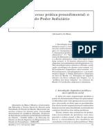 Autopoiese versus prática procedimental - o falso dilema do Poder Judiciário