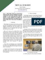 Virtual Surgery Report
