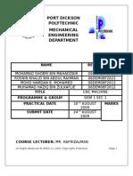 Cnc Machine Report
