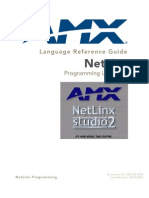 AMX Netlinx Language Reference Guide